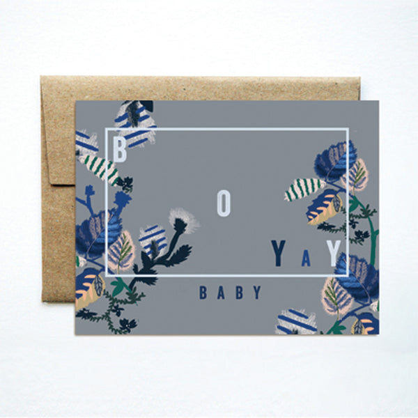 Baby Boy Yay Card - Wynwood Letterpress