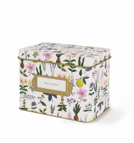 Tin Recipe Box - Herb Garden - Wynwood Letterpress  - 1