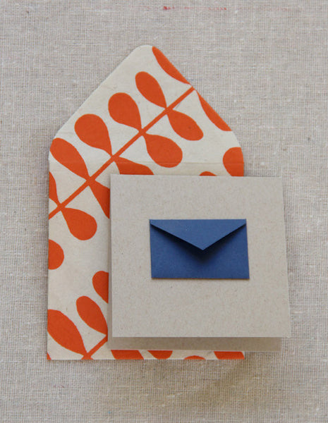 Navy Gift Enclosure Card - Wynwood Letterpress  - 3