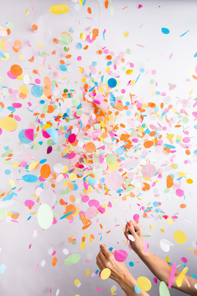 Jumbo Confetti Balloon - Clear with Multi Colored Confetti - Wynwood Letterpress  - 2