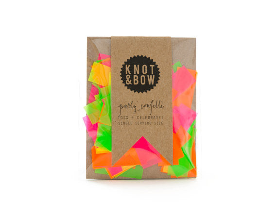 Single Serving Confetti - Neon - Wynwood Letterpress