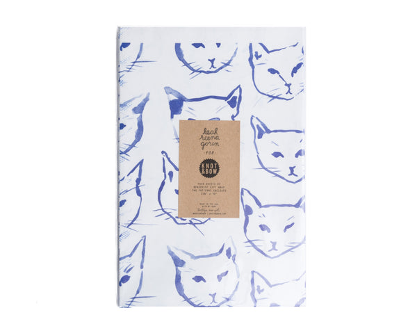 Cat Newsprint Gift Wrap - Wynwood Letterpress  - 1