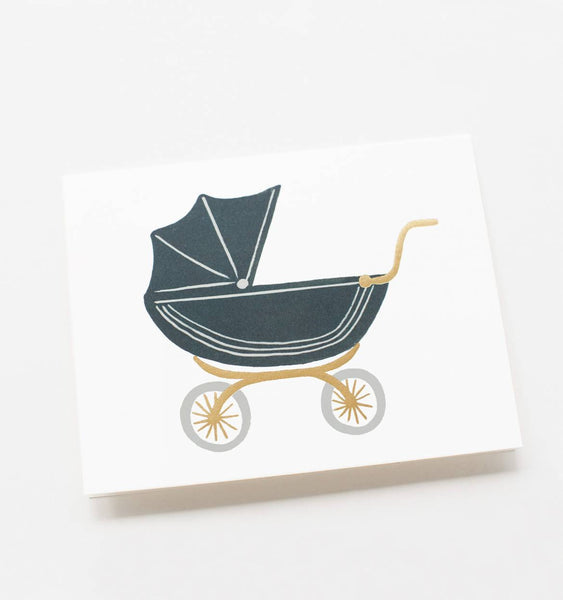 Pram Baby Card - Wynwood Letterpress  - 2