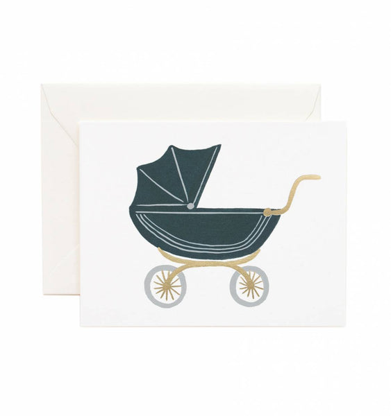 Pram Baby Card - Wynwood Letterpress  - 1