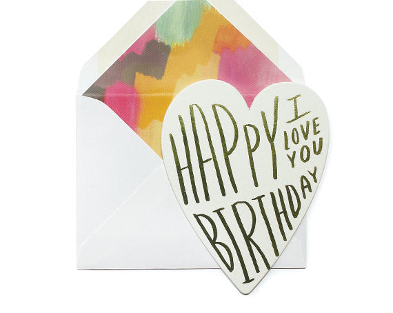 Birthday I Love You - Wynwood Letterpress