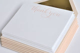 Gracious in Gold Notes & Envelopes Blush - Wynwood Letterpress  - 2