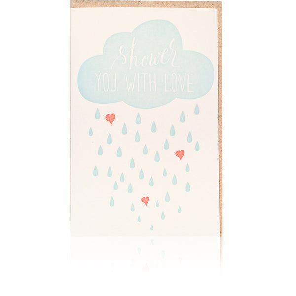 Shower With Love Card - Wynwood Letterpress