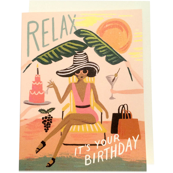 Relax Birthday Card - Wynwood Letterpress