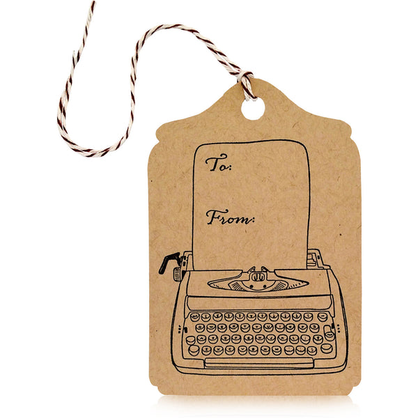 Typewriter Gift Tag - Wynwood Letterpress