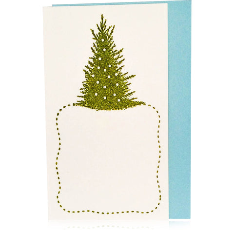 Vintage Tree & Snow Enclosure Card Set - Wynwood Letterpress