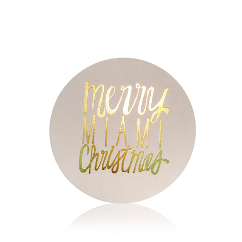 Merry Miami Christmas Foil Stamped Coasters - Wynwood Letterpress