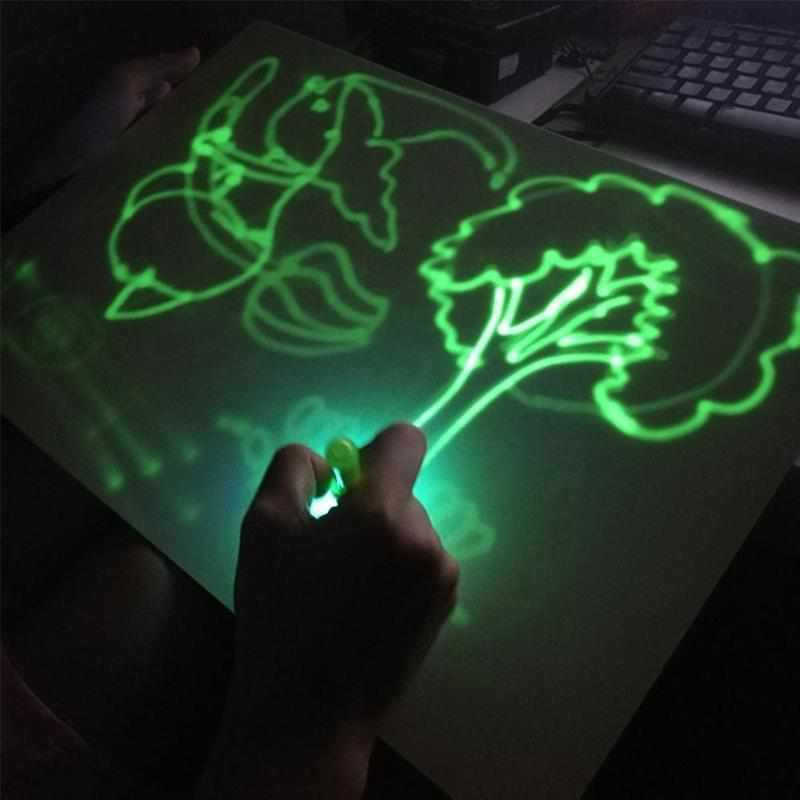 SketchNGlow- Glow-In-The-Dark Sketch Pad - TheKiddiCo
