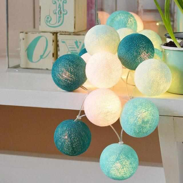 LED Cotton Ball Garland Lights - TheKiddiCo