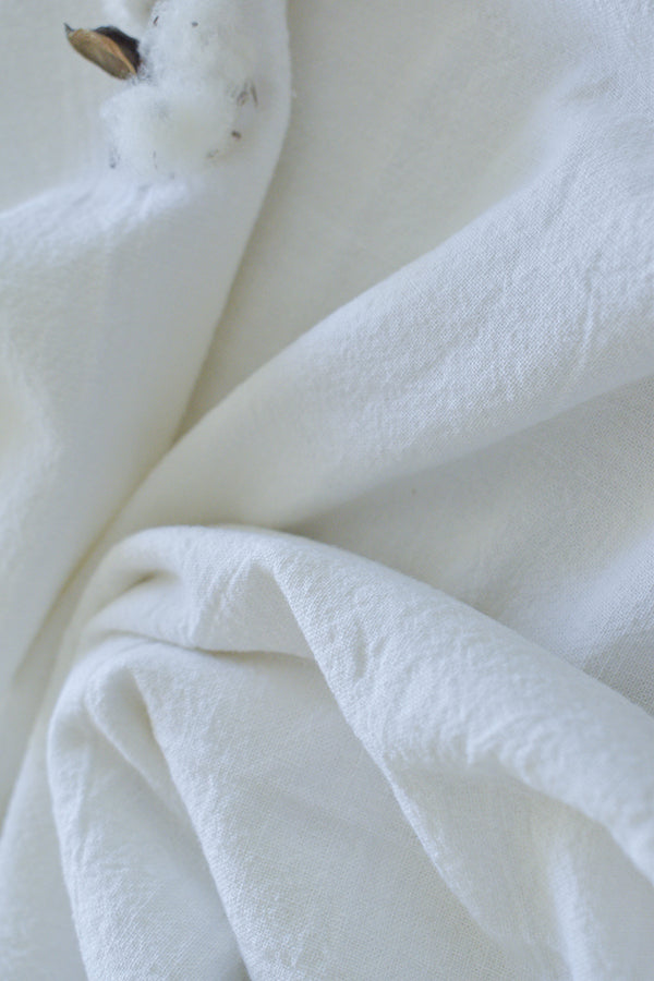58D Handloom Cotton (White)