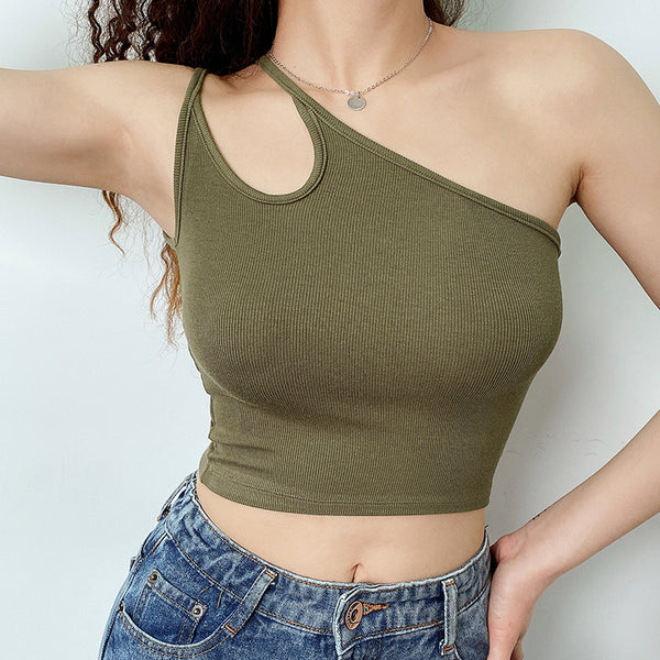 double strap one sided top