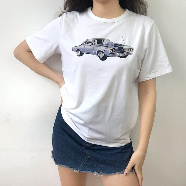 Retro Car Graphic T-shirt