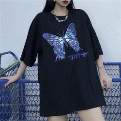 Grunge-Style Butterfly Tee