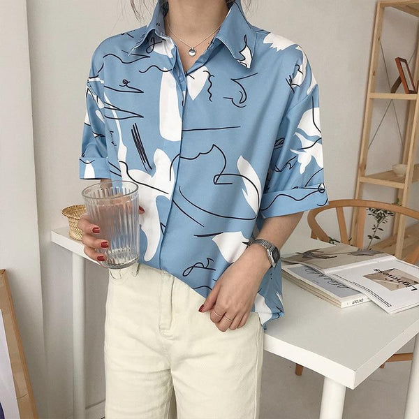 Abstract Button Shirt
