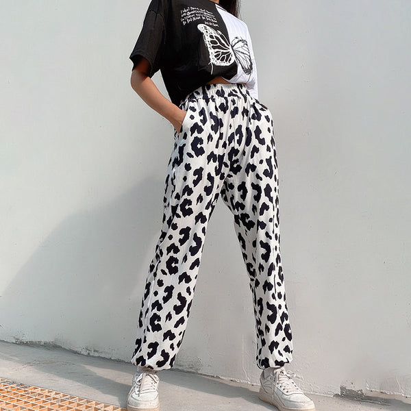 Cheetah print straight pants