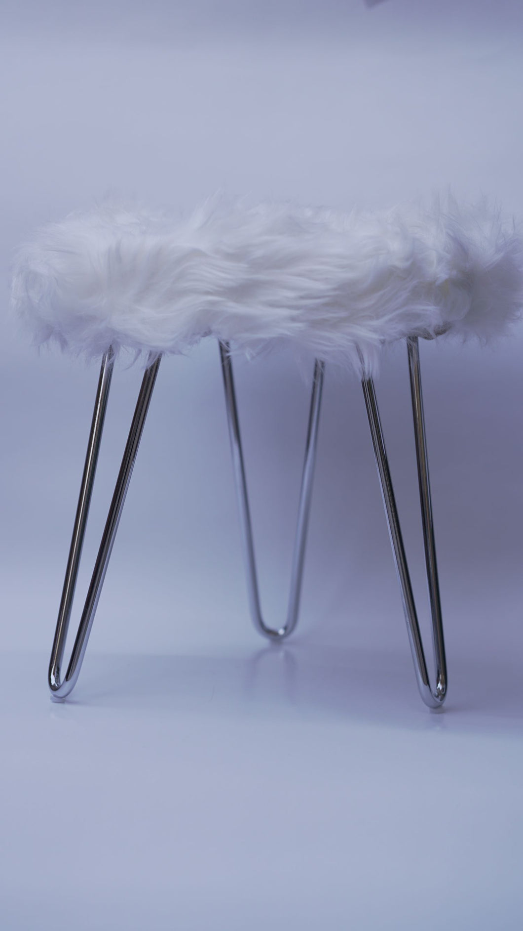White Fluffy Stool (LIMITED EDITION)