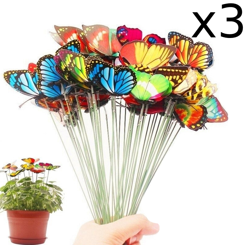 Butterfly Stakes Decoration x3