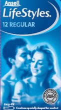 Ansell Lifestyles 12 Regular Condoms