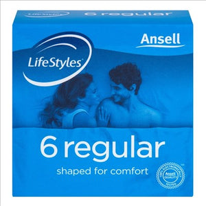 Ansell Lifestyles 6 Regular Condoms