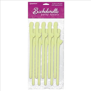 Glow In The Dark Dicky Sipping Straws  (10)