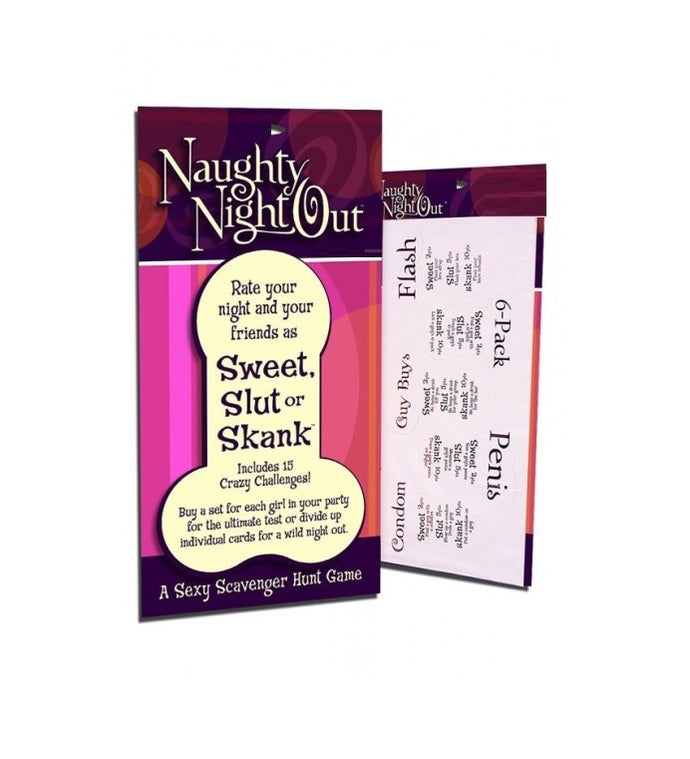 Naughty Night Out Sweet Slut Or Skank Game
