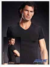 Load image into Gallery viewer, Men's Microfibre V-neck Tee - Black L/xl