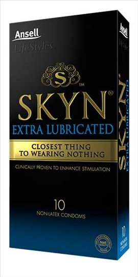Ansell Skyn 10's Extra Lubricated Non-latex Condoms