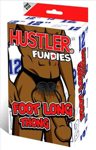 "Hustler Fundies 12"" Foot Long Thong Black One Size Fits Most"
