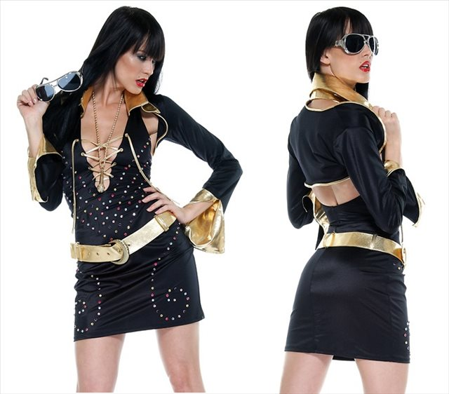 Superstar Elvis Female Costume Size L / X L