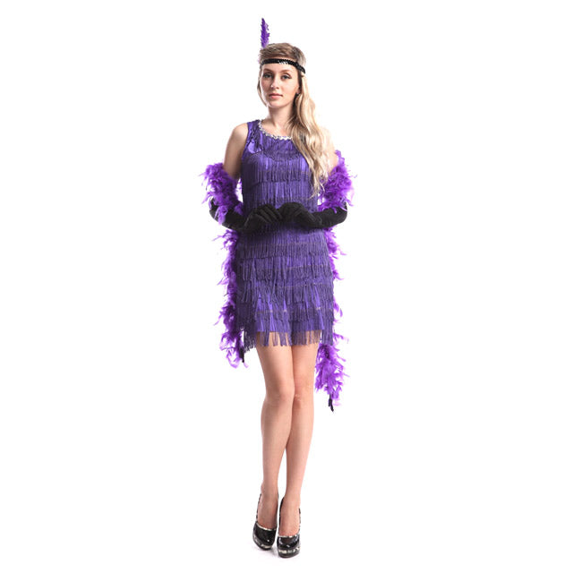 Purple 1920's Flapper Costume 2xl