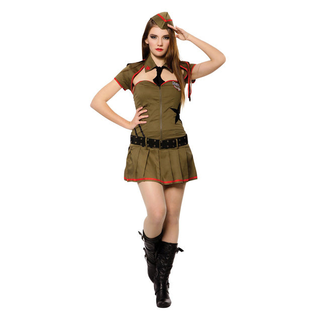 Costume Private Pin Up Soldier Girl Size M / L