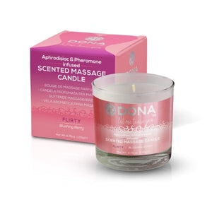 Dona Scented Massage Candle Flirty Blushing Berry 222ml