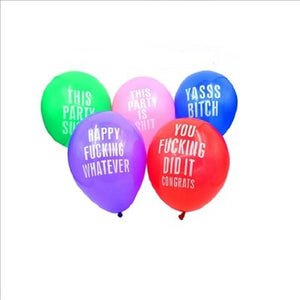 12 Inch Abusive Assorted Colorful Balloons