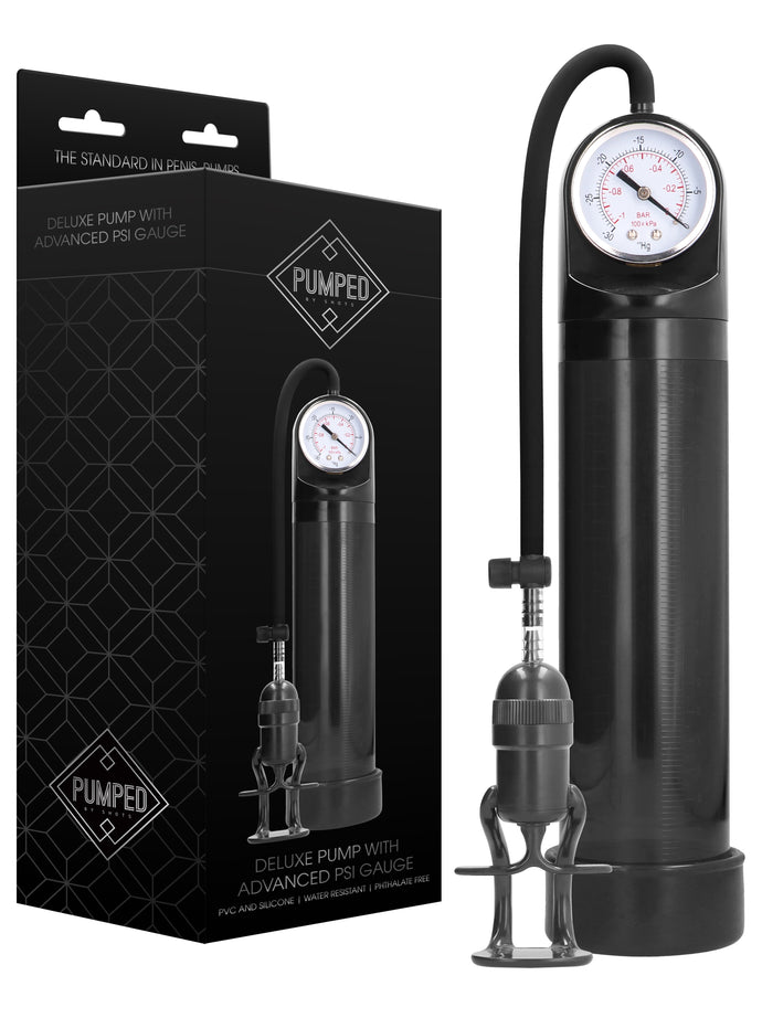 Pumped Deluxe Pump With Advanced Psi Gauge Black