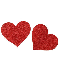 Nipple Cover Red Glitter Heart