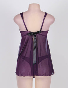 Appealing Purple Babydoll (12-14) Xl