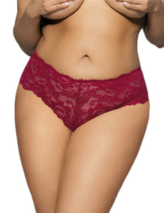 Lace Knickers Red (12-14) Xl
