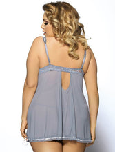 Load image into Gallery viewer, Grey Babydoll Lace Trim (16-18) 3xl