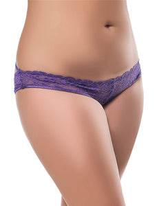 Caged Open Crotch Panty Purple (20-22) 3xl