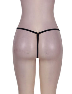 Black Front Zip G-string (16) 2xl