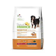 Завантажте зображення у програму перегляду галереї NATURAL TRAINER DOG SENSITIVE® (НАТУРАЛ ТРЕЙНЕР ДОГ СЕНСІТІВ®) Едалт Медіум енд Максі з лососем і цільними зернами.