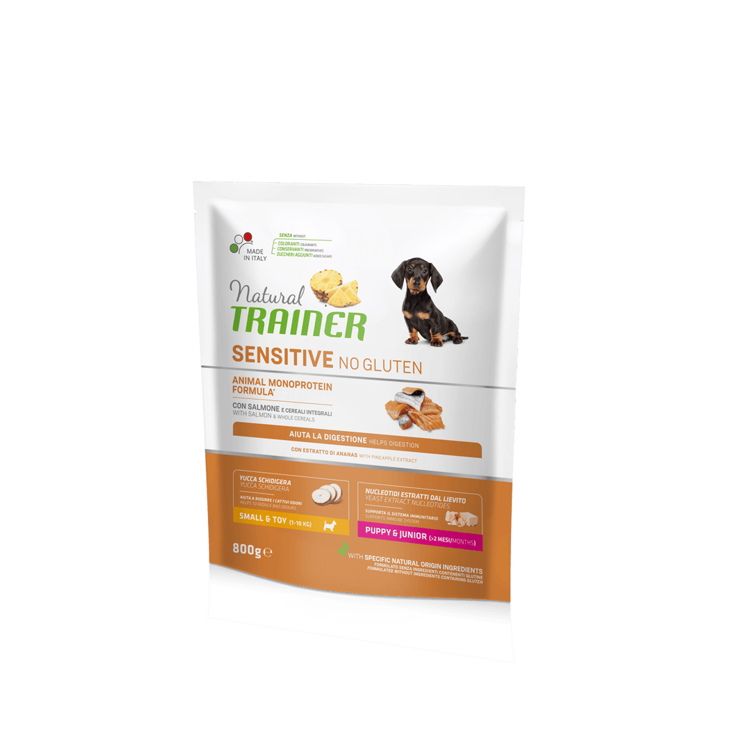 NATURAL TRAINER DOG SENSITIVE® (НАТУРАЛ ТРЕЙНЕР ДОГ СЕНСІТІВ®) Паппі енд Джуніор Міні з лососем і цільними зернами.