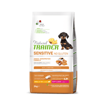Завантажте зображення у програму перегляду галереї NATURAL TRAINER DOG SENSITIVE® (НАТУРАЛ ТРЕЙНЕР ДОГ СЕНСІТІВ®) Паппі енд Джуніор Міні з лососем і цільними зернами.