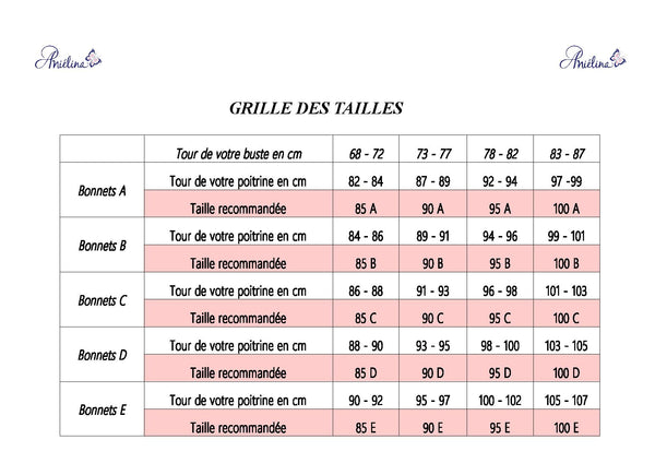 ANIELINA GRILLE DES TAILLES