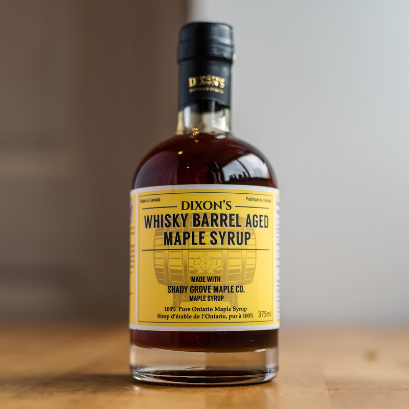 WHISKEY BARREL-AGED MAPLE SYRUP