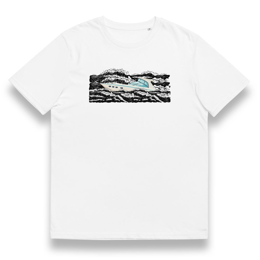 "YACHT ""IN WAVES"" ORGANIC T SHIRT"